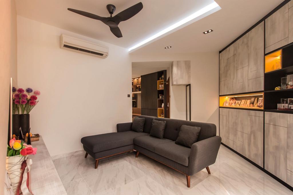Modern, Condo, Living Room, Villa Marina, Interior Designer, Space Atelier