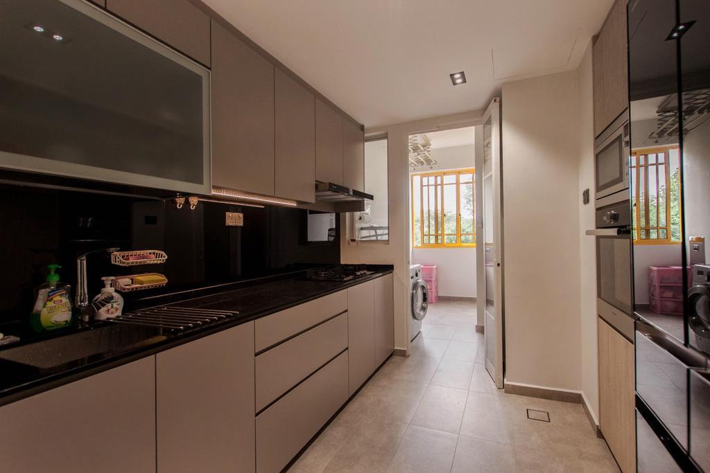 Modern, Condo, Kitchen, Villa Marina, Interior Designer, Space Atelier