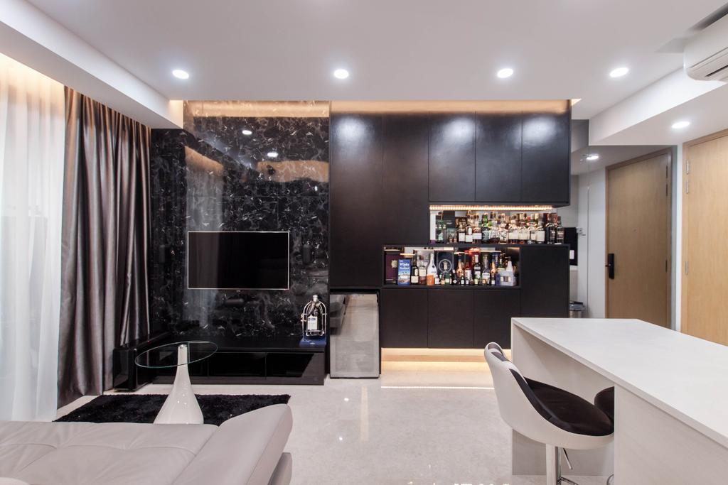Modern, Condo, Living Room, 6 Derbyshire, Interior Designer, Space Atelier