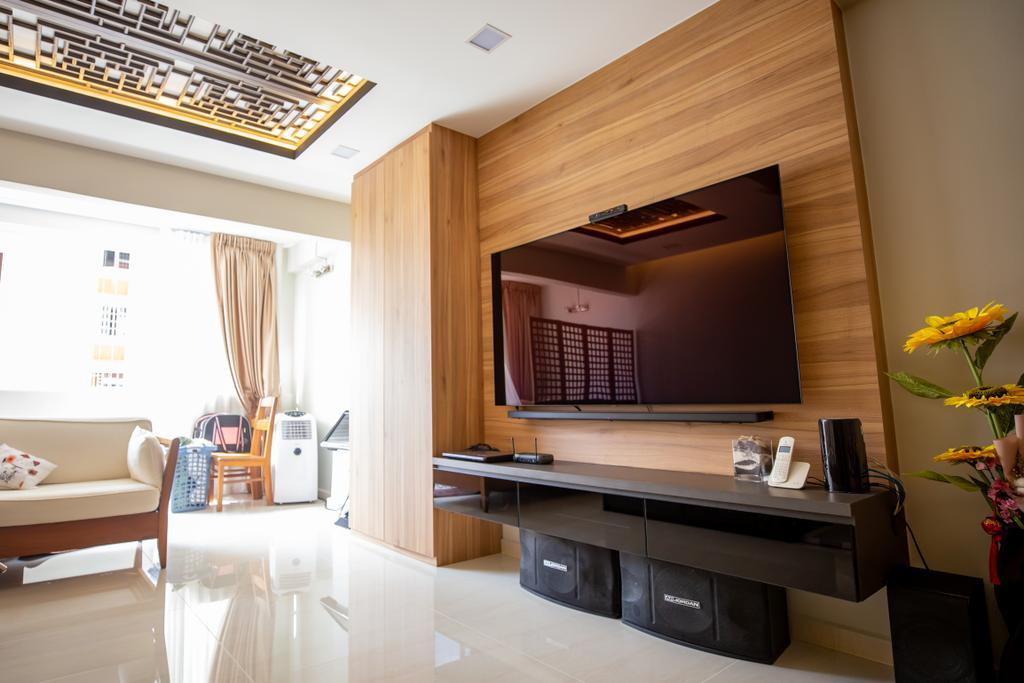 Transitional, HDB, Living Room, Tampines, Interior Designer, Interior Times