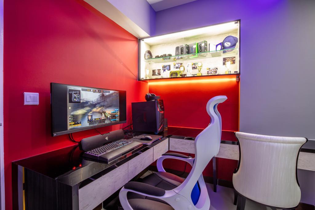 Contemporary, HDB, Study, Bedok, Interior Designer, Interior Times