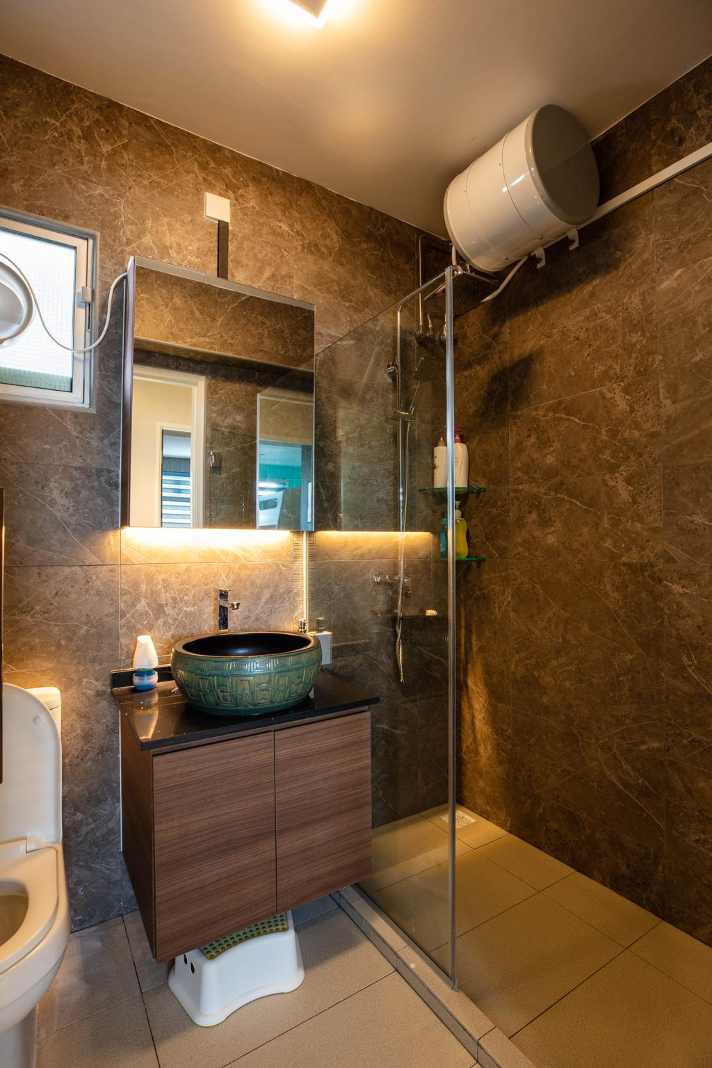 Contemporary, HDB, Bathroom, Bedok, Interior Designer, Interior Times