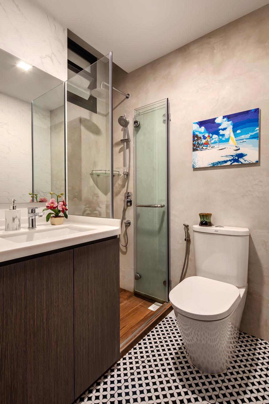 Modern, Condo, Bathroom, Mandarin Gardens, Interior Designer, Anhans Interior Design, Contemporary
