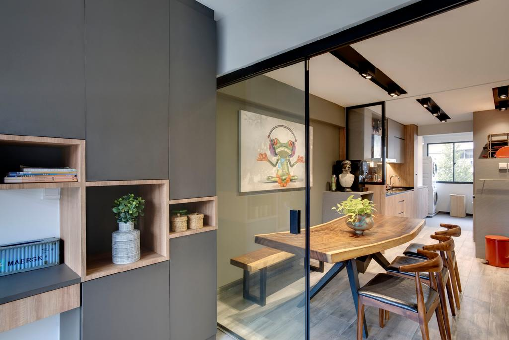 Scandinavian, HDB, Dining Room, Serangoon (Block 413), Interior Designer, Juz Interior