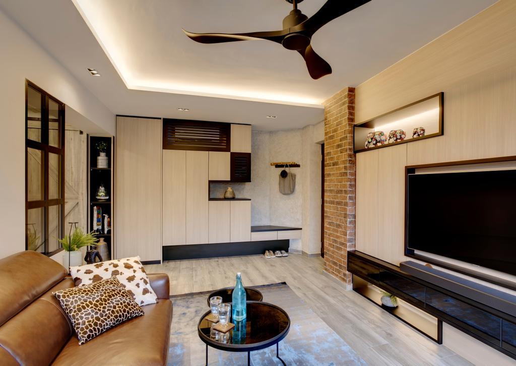 Scandinavian, HDB, Living Room, Serangoon (Block 413), Interior Designer, Juz Interior