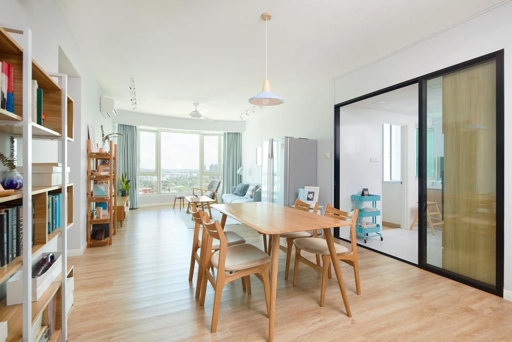 Scandinavian, Condo, Dining Room, Queenstown, Interior Designer, Design 4 Space