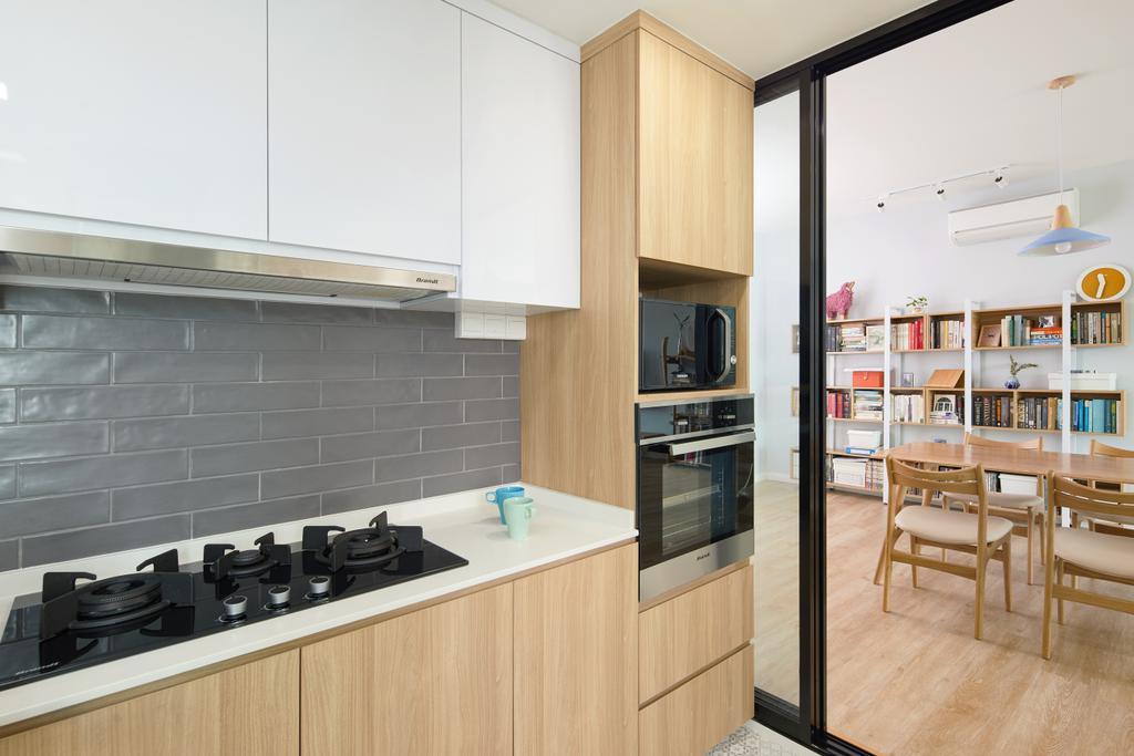 Scandinavian, Condo, Kitchen, Queenstown, Interior Designer, Design 4 Space