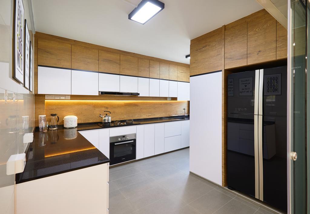 Contemporary, HDB, Kitchen, Jurong West, Interior Designer, Design 4 Space