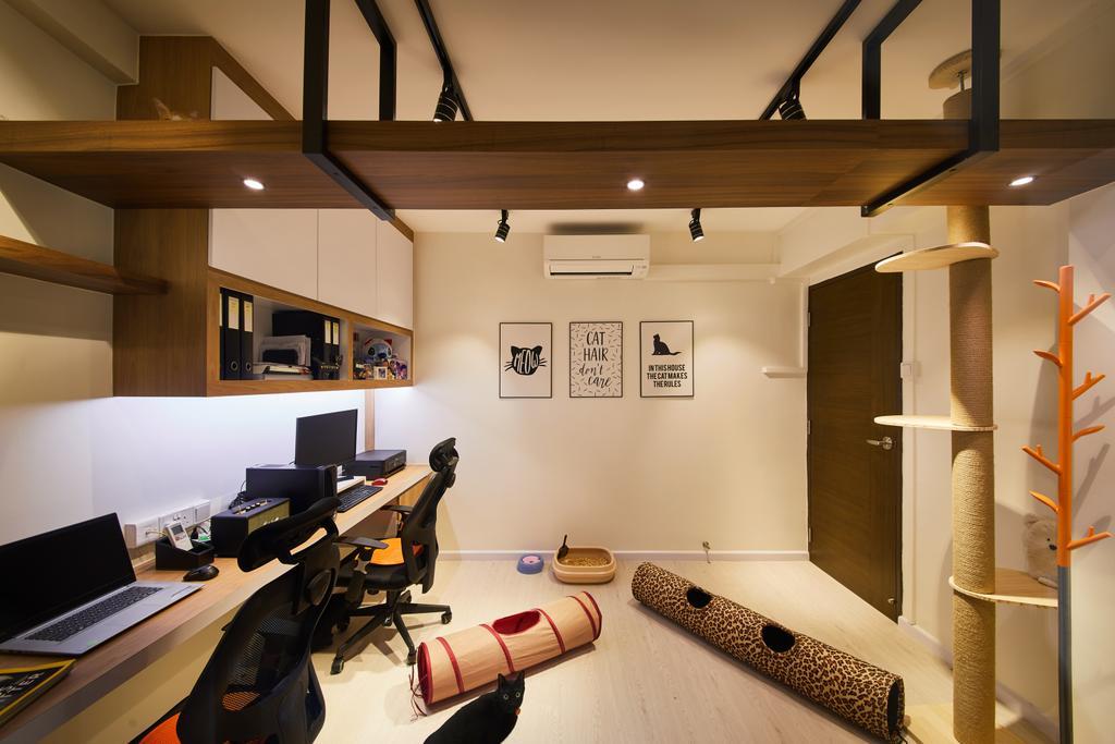 Contemporary, HDB, Study, Jurong West, Interior Designer, Design 4 Space