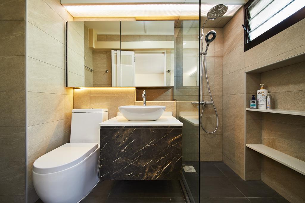 Contemporary, HDB, Bathroom, Jurong West, Interior Designer, Design 4 Space