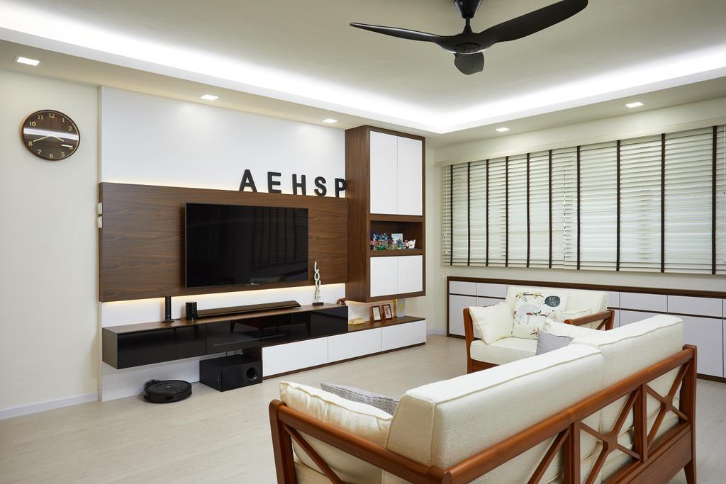 Contemporary, HDB, Living Room, Jurong West, Interior Designer, Design 4 Space