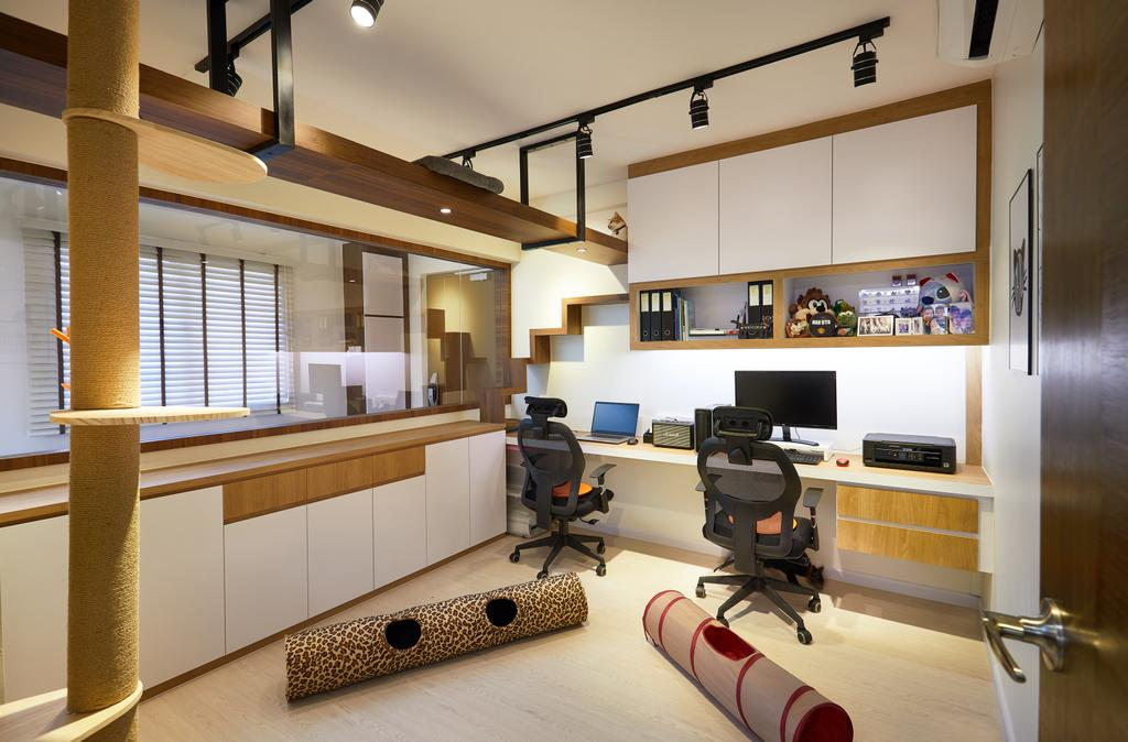 Contemporary, HDB, Study, Jurong West, Interior Designer, Design 4 Space