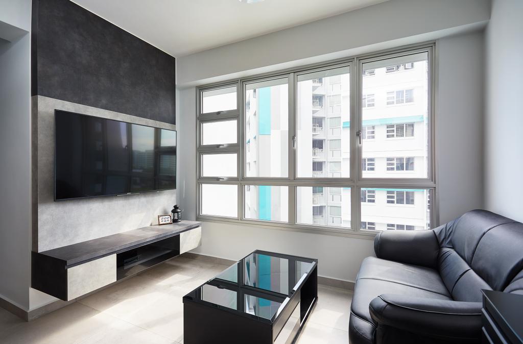 Modern, HDB, Living Room, Woodland Pasture II, Interior Designer, Design 4 Space