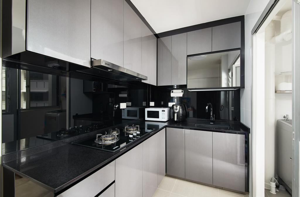 Modern, HDB, Kitchen, Woodland Pasture II, Interior Designer, Design 4 Space