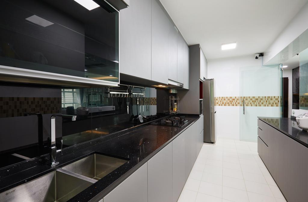 Modern, HDB, Kitchen, Edgedale Plains, Interior Designer, Design 4 Space, Contemporary