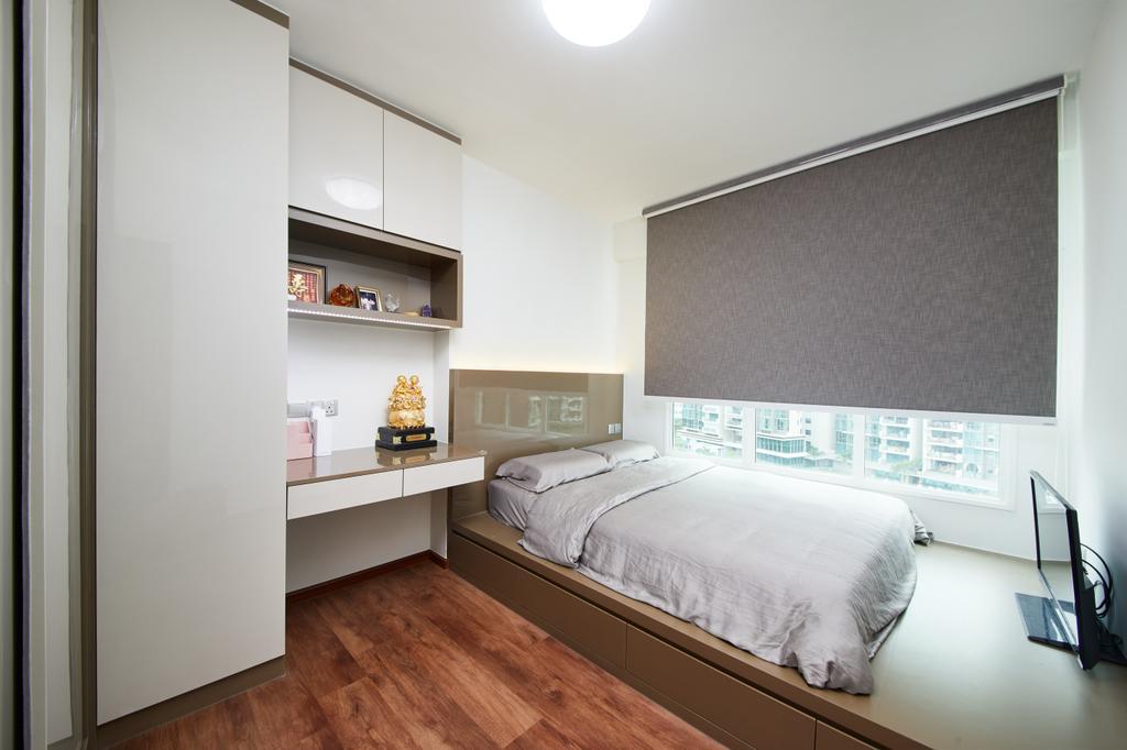 Modern, HDB, Bedroom, Edgedale Plains, Interior Designer, Design 4 Space, Contemporary