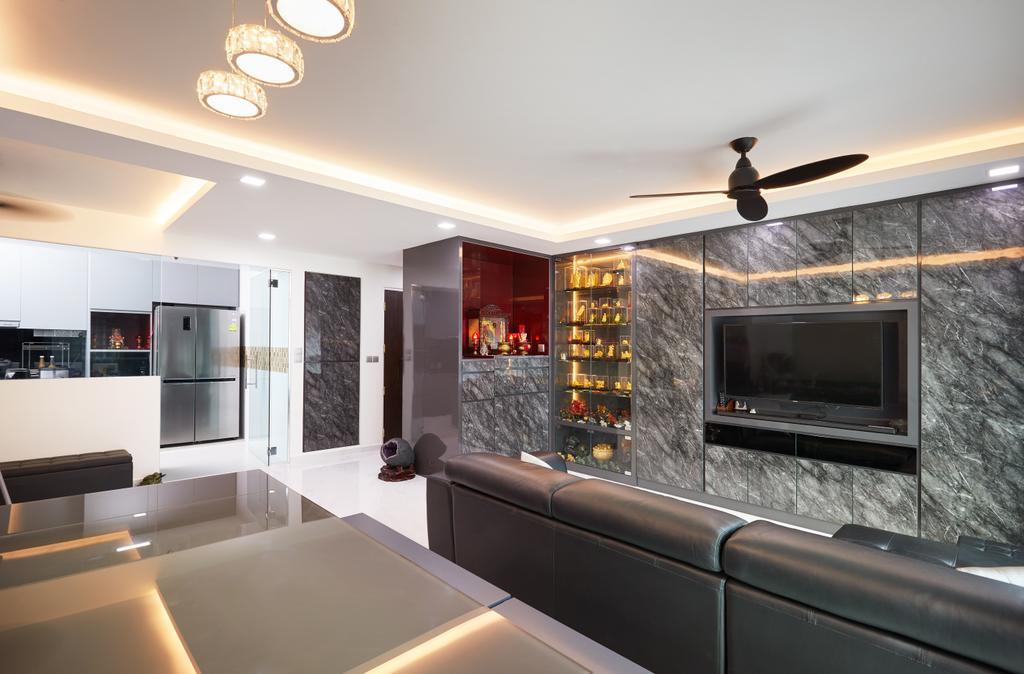 Modern, HDB, Living Room, Edgedale Plains, Interior Designer, Design 4 Space, Contemporary