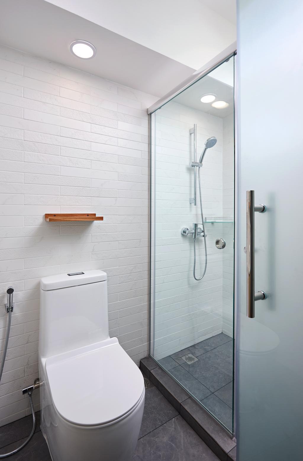Contemporary, HDB, Bathroom, Senja Road, Interior Designer, Design 4 Space, Modern