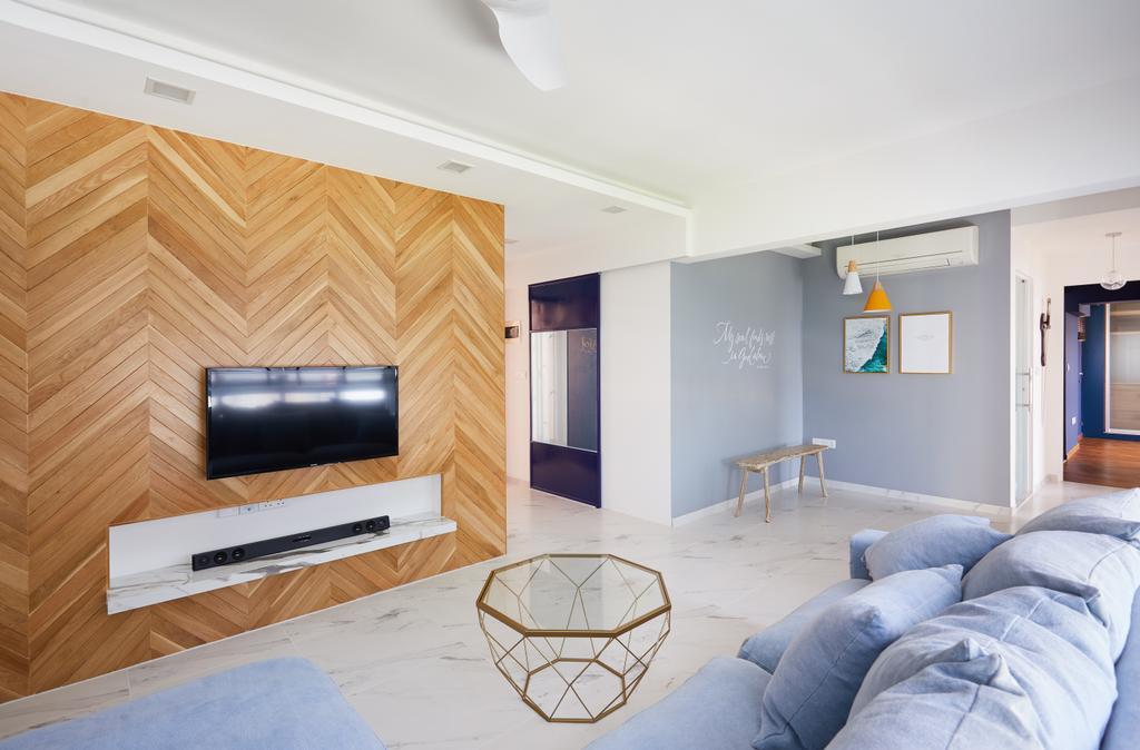 Contemporary, HDB, Living Room, Senja Road, Interior Designer, Design 4 Space, Modern