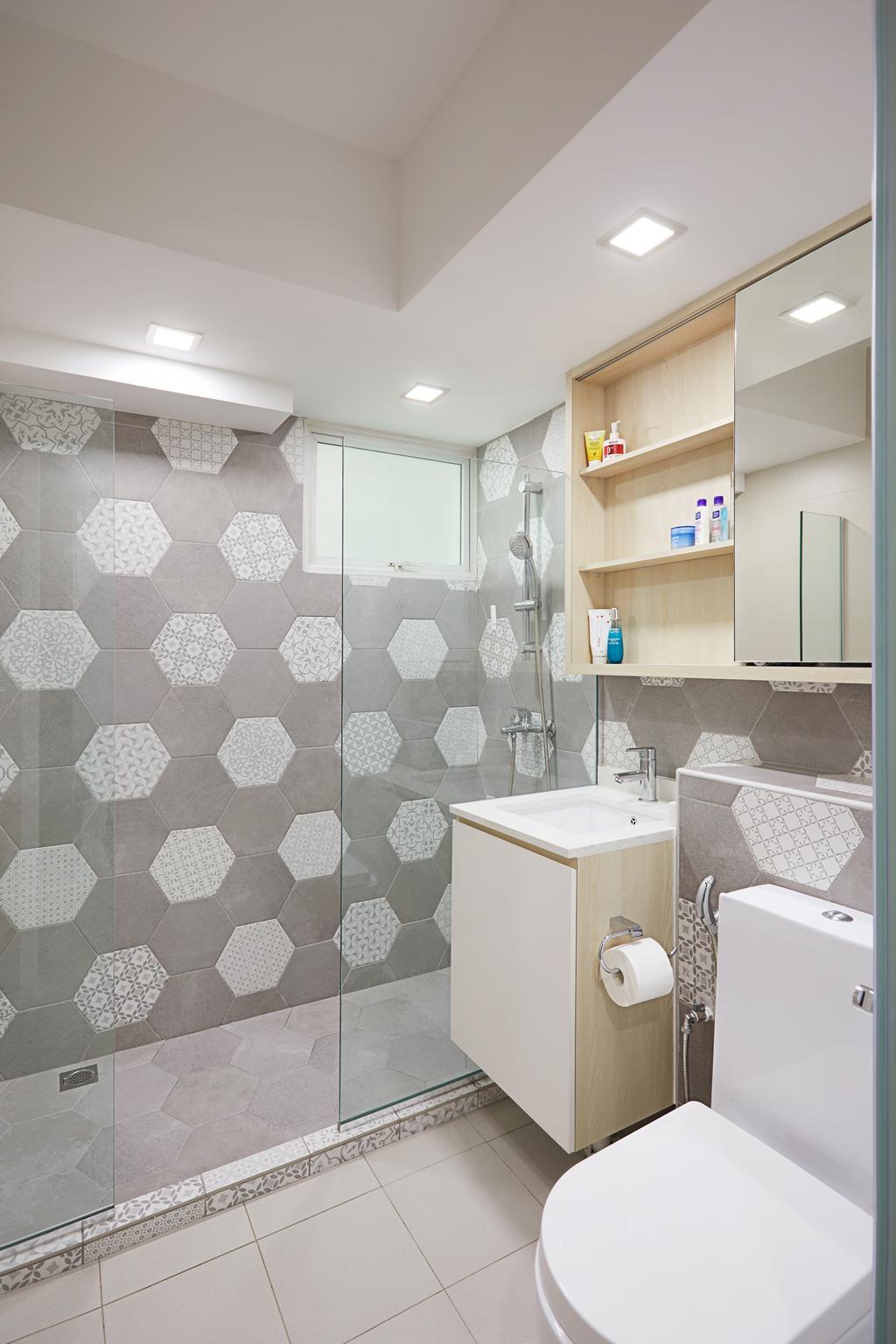 HDB, Bathroom, Ang Mo Kio Street 52, Interior Designer, Design 4 Space