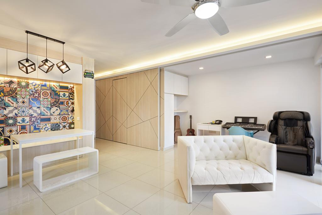 HDB, Living Room, Ang Mo Kio Street 52, Interior Designer, Design 4 Space