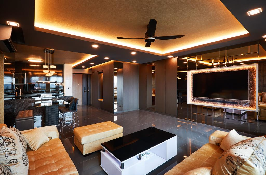 HDB, Living Room, Bukit Batok, Interior Designer, Design 4 Space