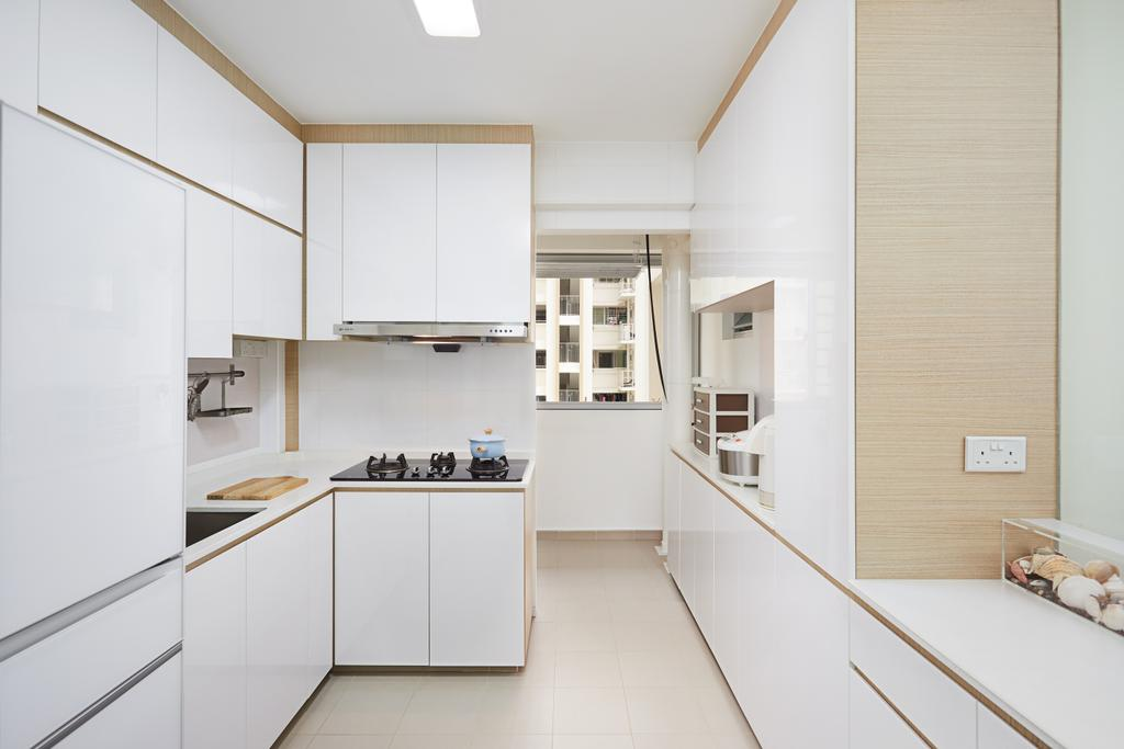 Scandinavian, HDB, Kitchen, Sumang Lane, Interior Designer, Design 4 Space