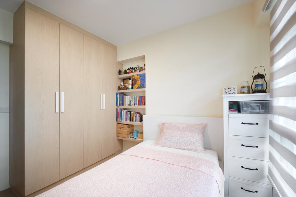 Scandinavian, HDB, Bedroom, Sumang Lane, Interior Designer, Design 4 Space