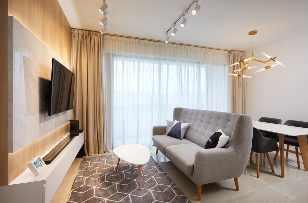 Modern, Condo, Living Room, The Vales, Interior Designer, Design 4 Space, Contemporary