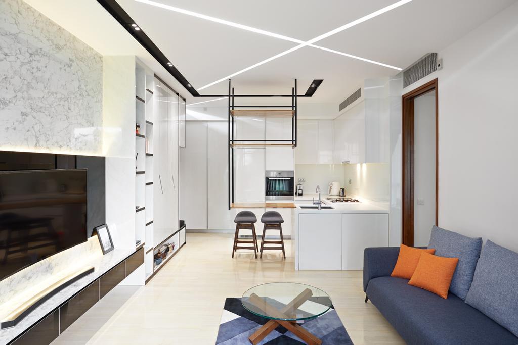 Minimalistic, Condo, Living Room, L'viv, Interior Designer, Design 4 Space
