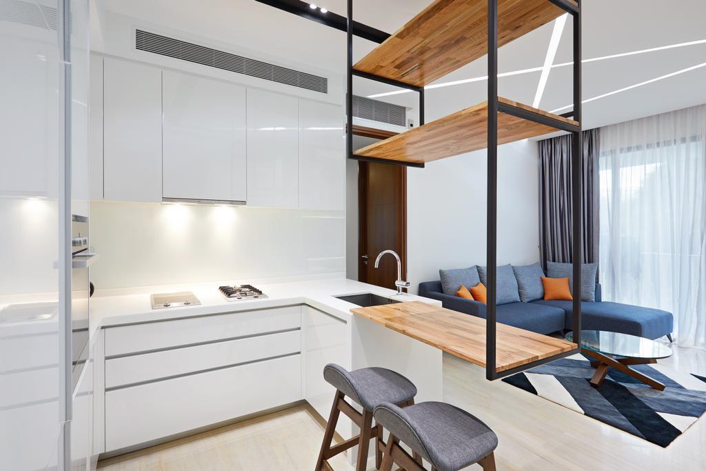 Minimalistic, Condo, Kitchen, L'viv, Interior Designer, Design 4 Space