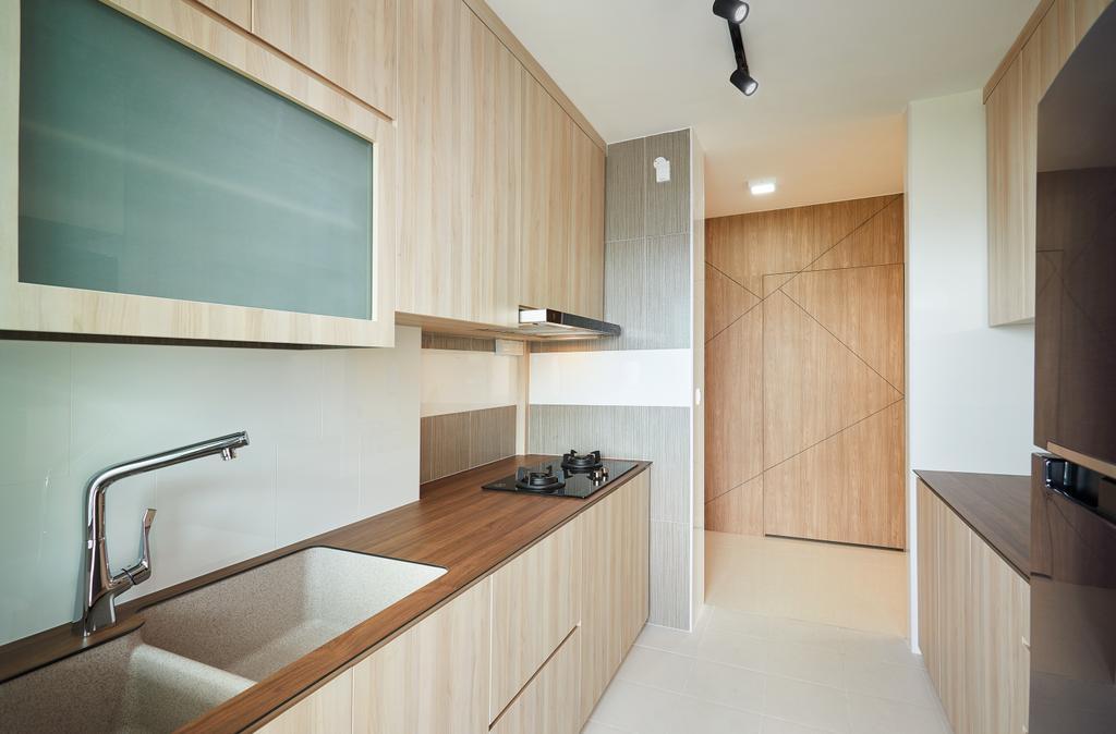 Modern, HDB, Kitchen, Bendemeer Light, Interior Designer, Design 4 Space, Contemporary