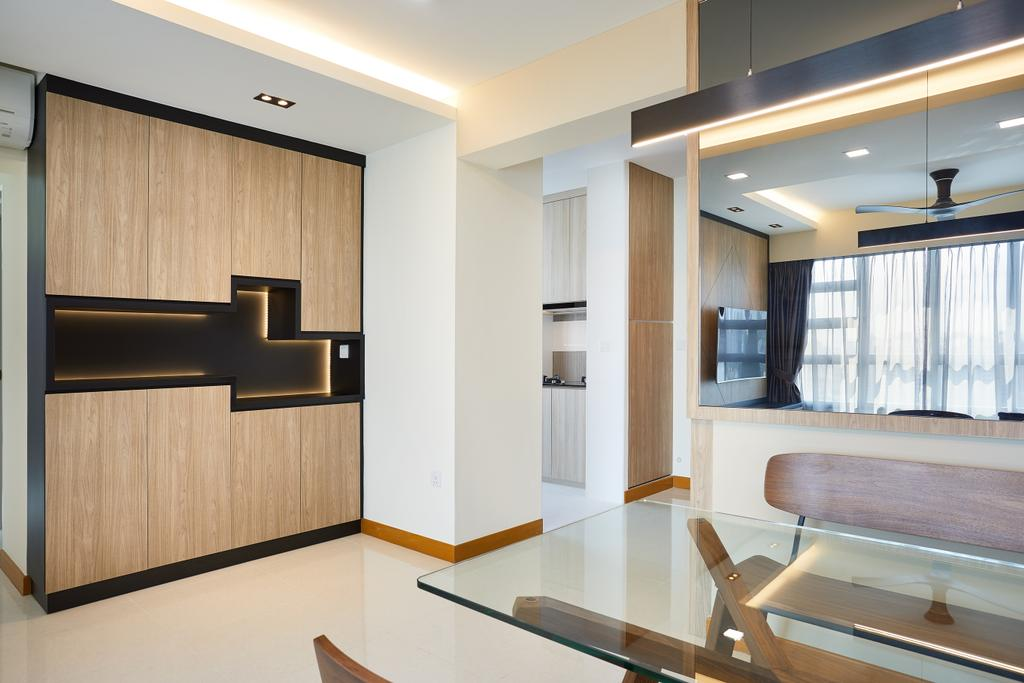 Modern, HDB, Living Room, Bendemeer Light, Interior Designer, Design 4 Space, Contemporary