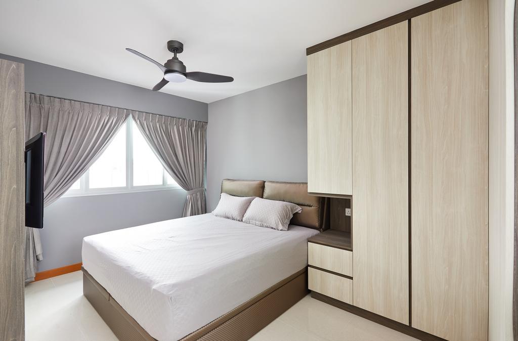 Modern, HDB, Bedroom, Bendemeer Light, Interior Designer, Design 4 Space, Contemporary