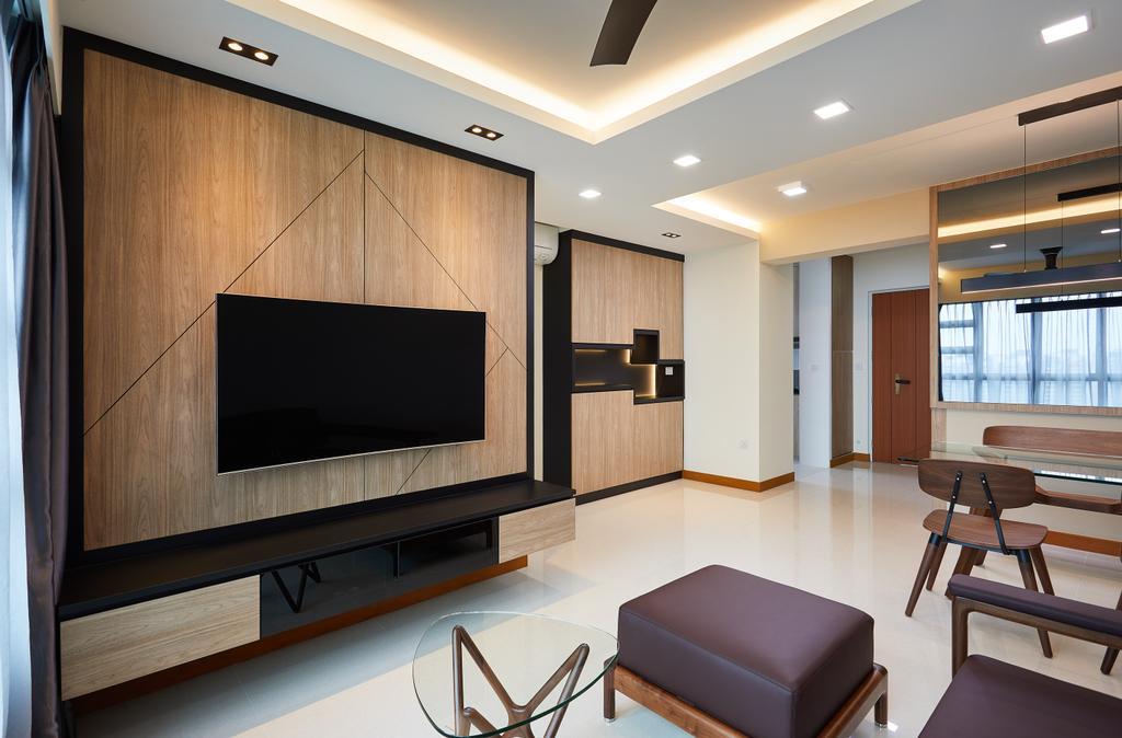 Modern, HDB, Living Room, Bendemeer Light, Interior Designer, Design 4 Space, Contemporary