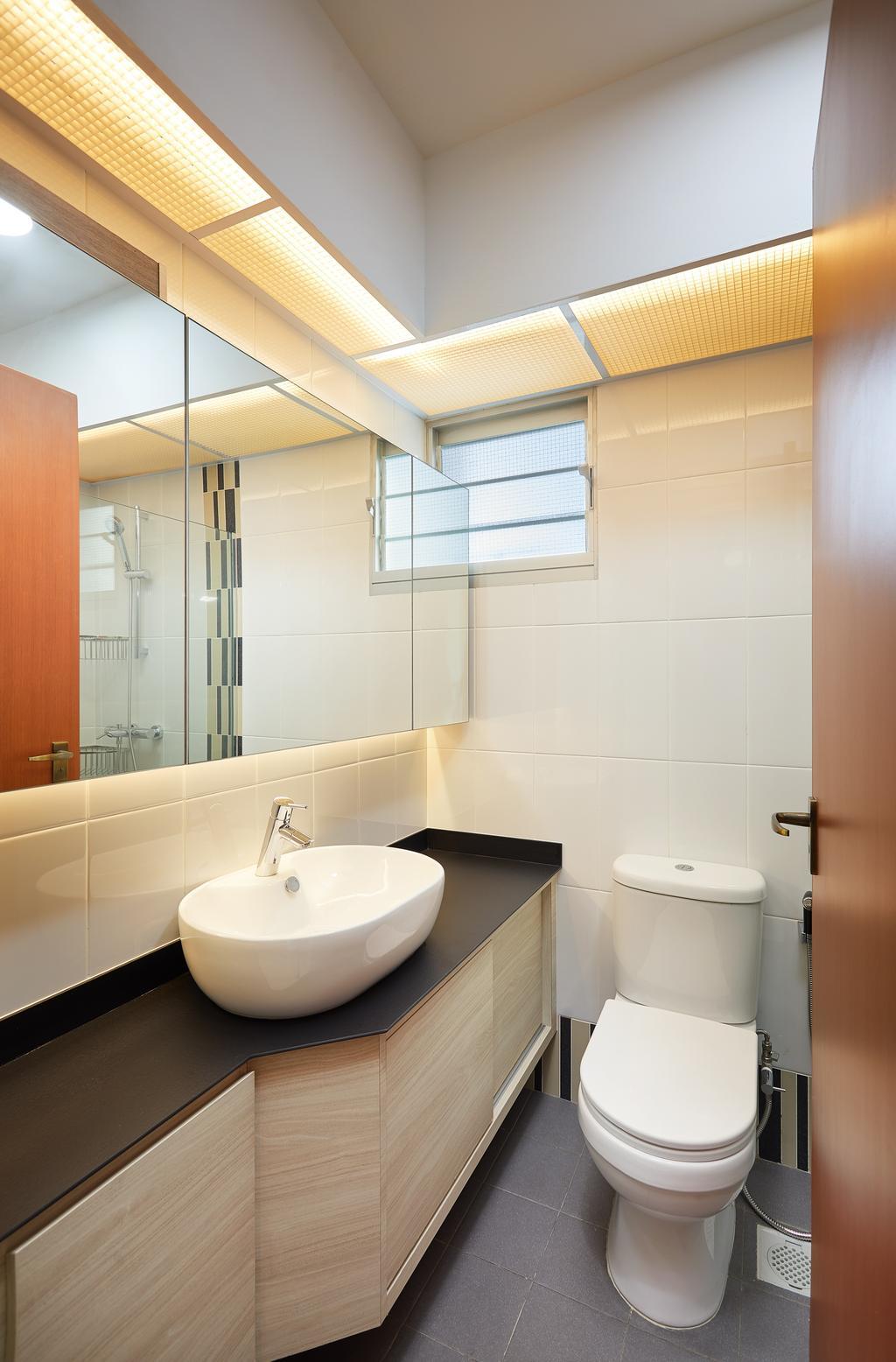 Modern, HDB, Bathroom, Bendemeer Light, Interior Designer, Design 4 Space, Contemporary