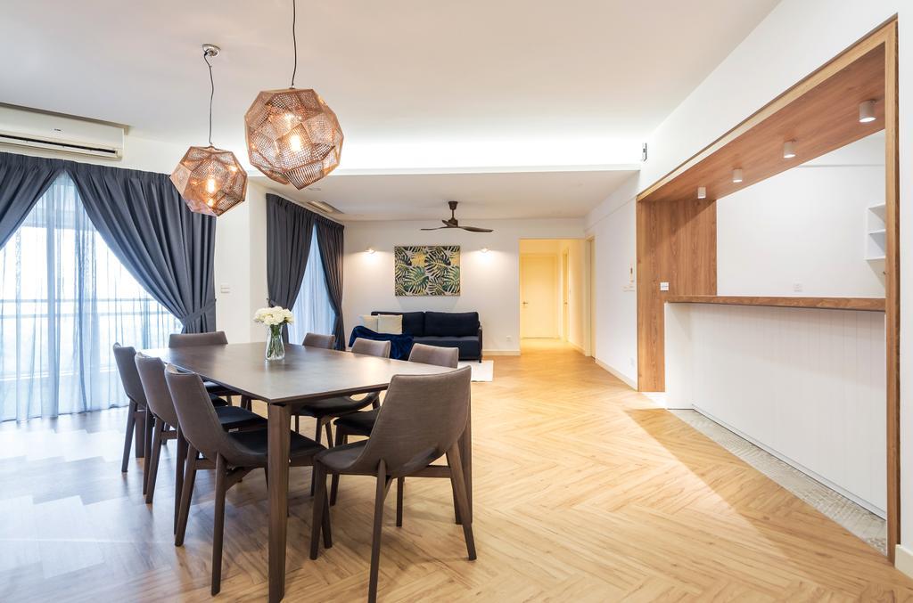 Contemporary, Condo, Dining Room, 9 Bukit Utama, Interior Designer, Pocket Square