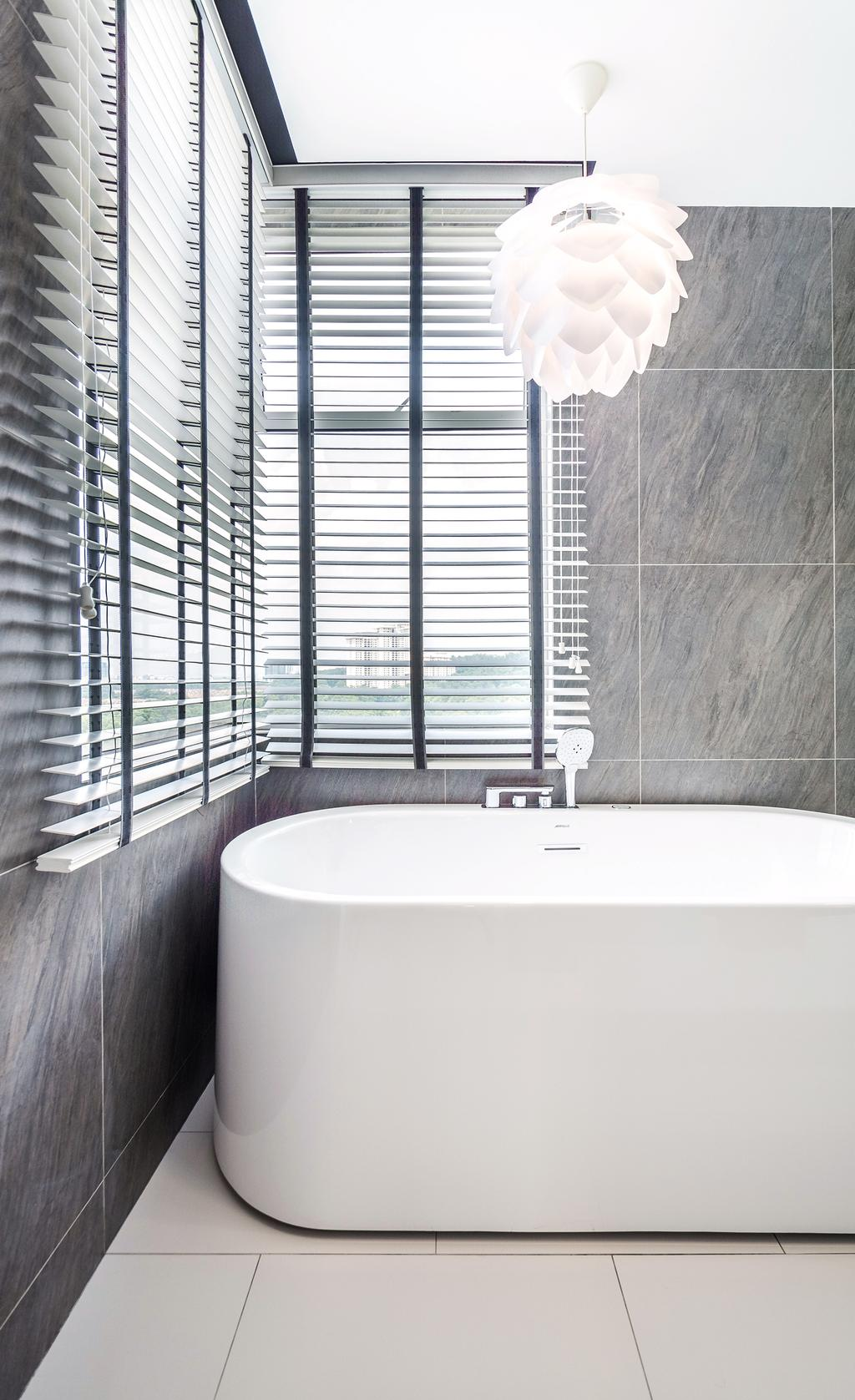 Contemporary, Condo, Bathroom, 9 Bukit Utama, Interior Designer, Pocket Square, Bath Tub, Bathtub
