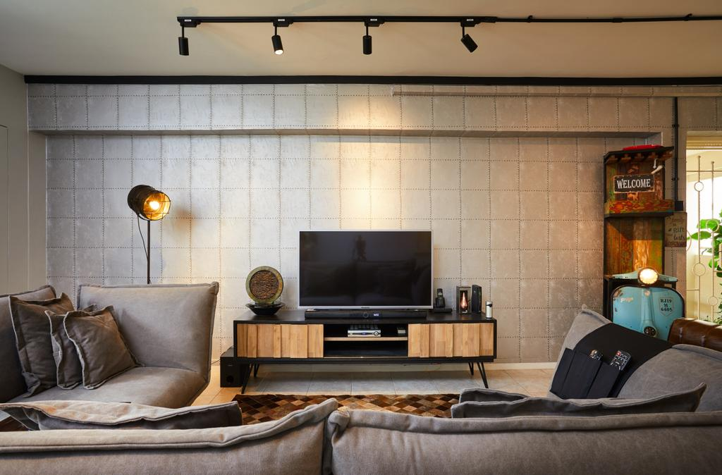 Industrial, HDB, Living Room, Pasir Ris Street 71, Interior Designer, Design 4 Space