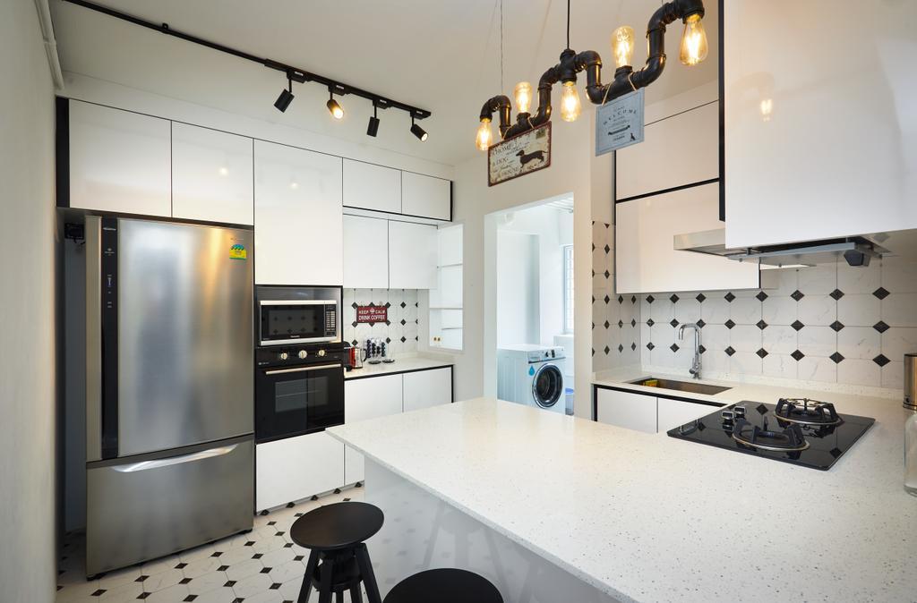 Industrial, HDB, Kitchen, Pasir Ris Street 71, Interior Designer, Design 4 Space