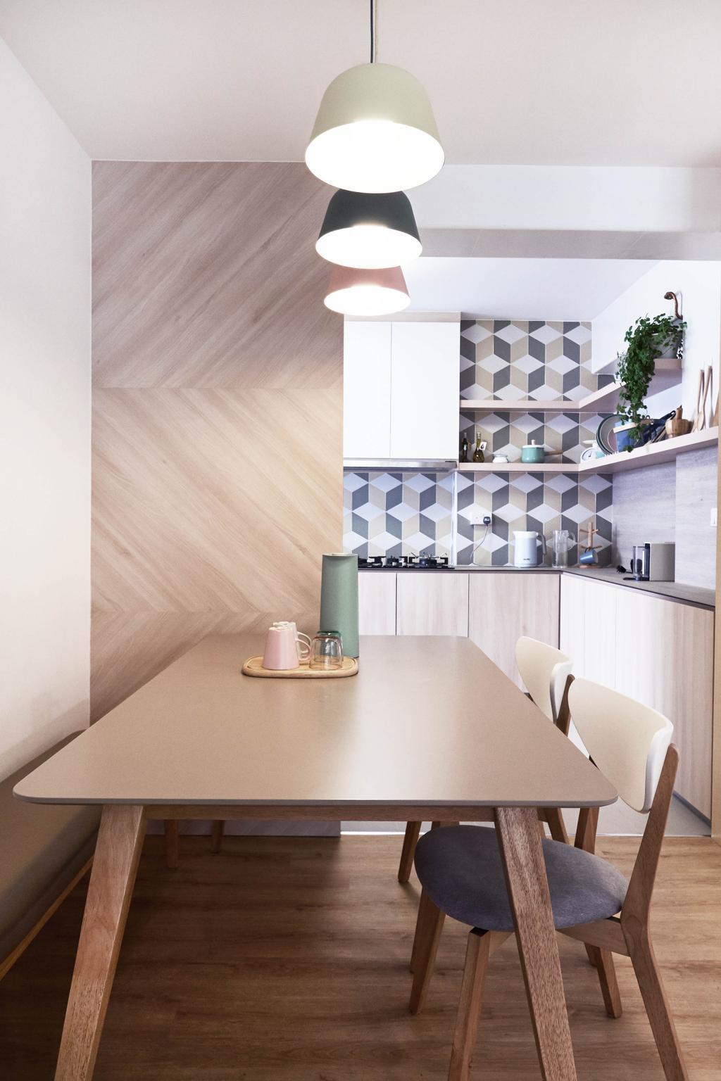 Scandinavian, HDB, Dining Room, Yishun Ring Road, Interior Designer, Lemonfridge Studio