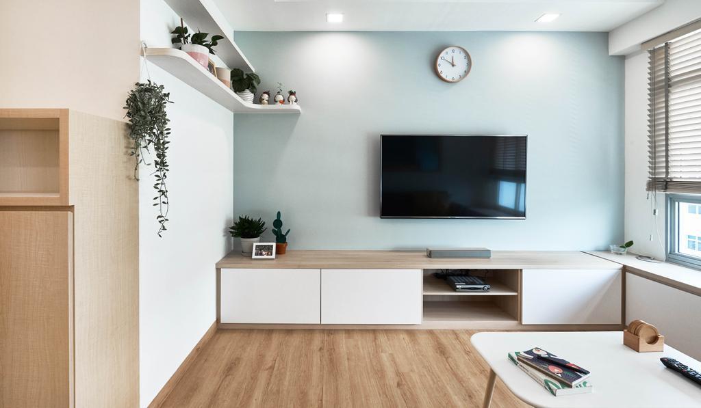 Scandinavian, HDB, Living Room, Yishun Ring Road, Interior Designer, Lemonfridge Studio