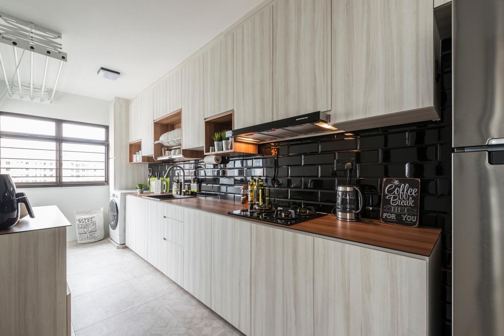 Contemporary, HDB, Kitchen, Redhill Road, Interior Designer, Couple Abode