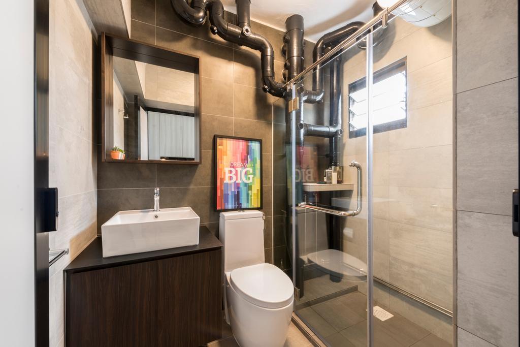 Contemporary, HDB, Bathroom, Redhill Road, Interior Designer, Couple Abode
