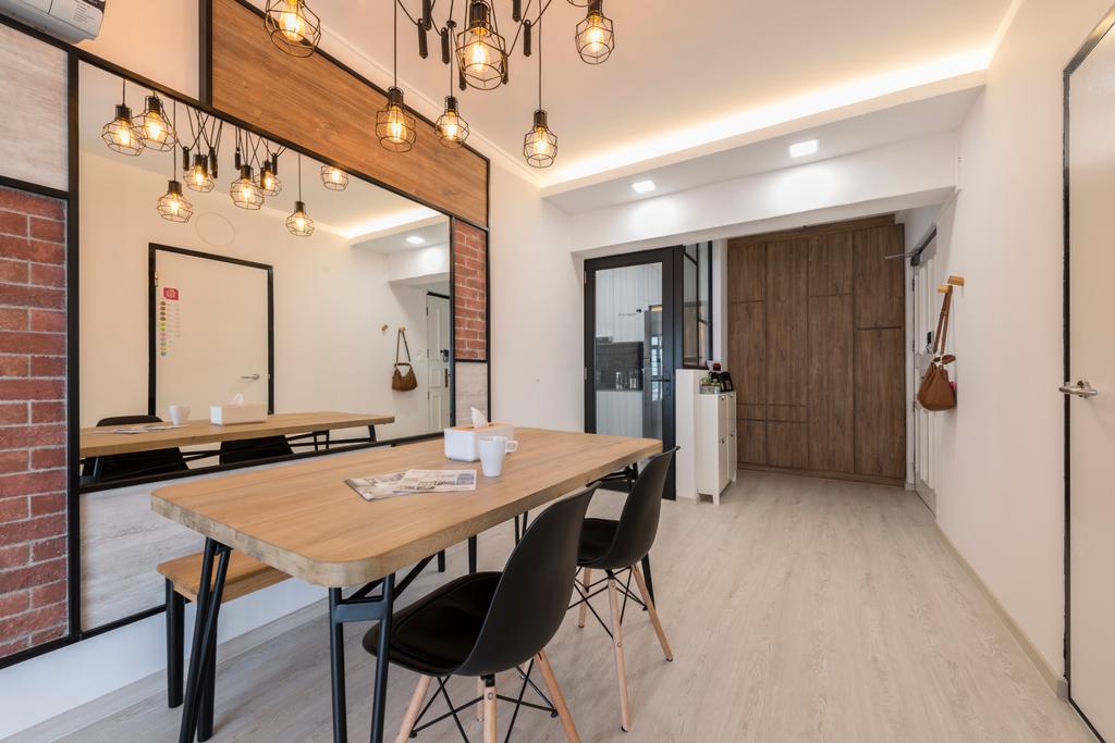 Contemporary, HDB, Dining Room, Redhill Road, Interior Designer, Couple Abode