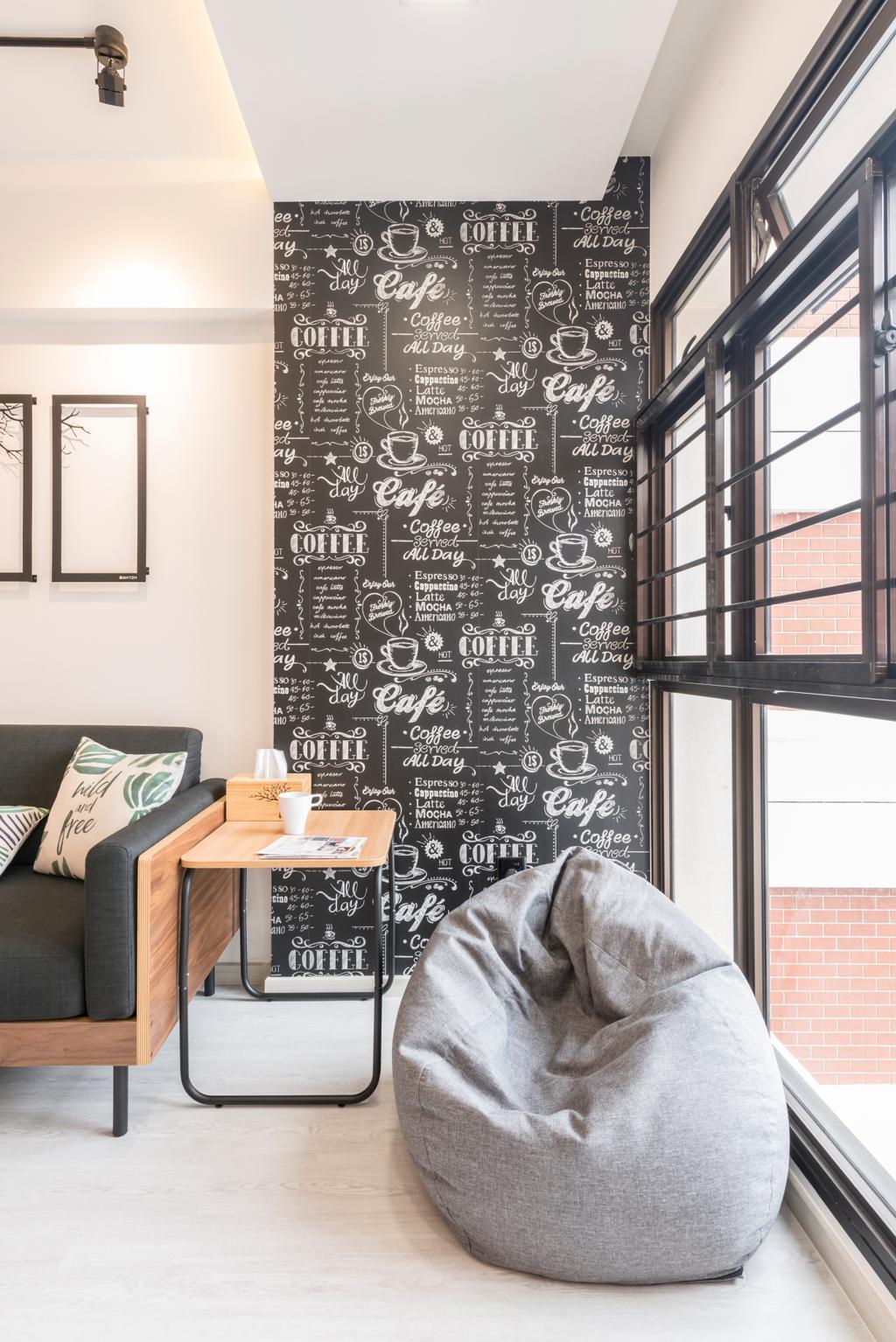 Contemporary, HDB, Living Room, Redhill Road, Interior Designer, Couple Abode