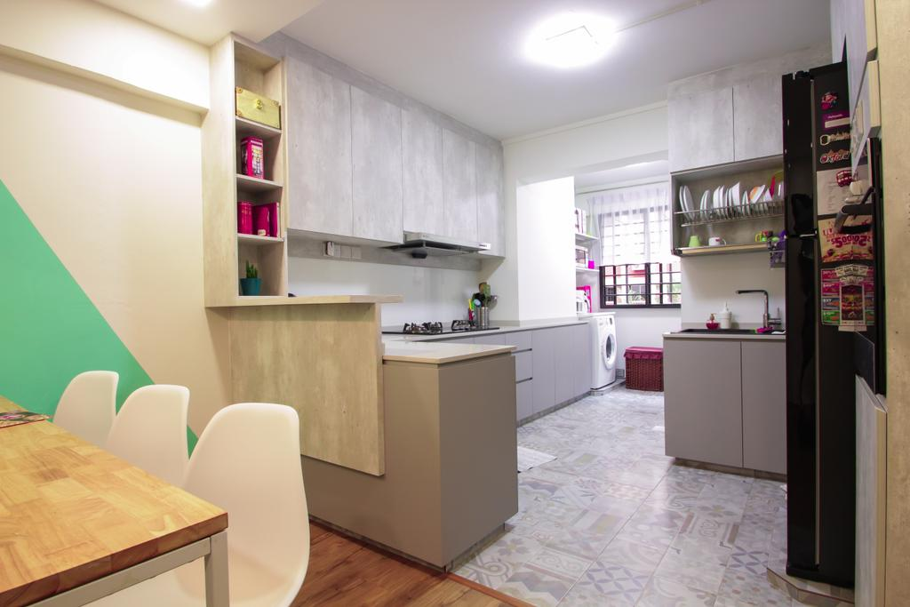 Contemporary, HDB, Kitchen, Bishan Street 22, Interior Designer, Couple Abode