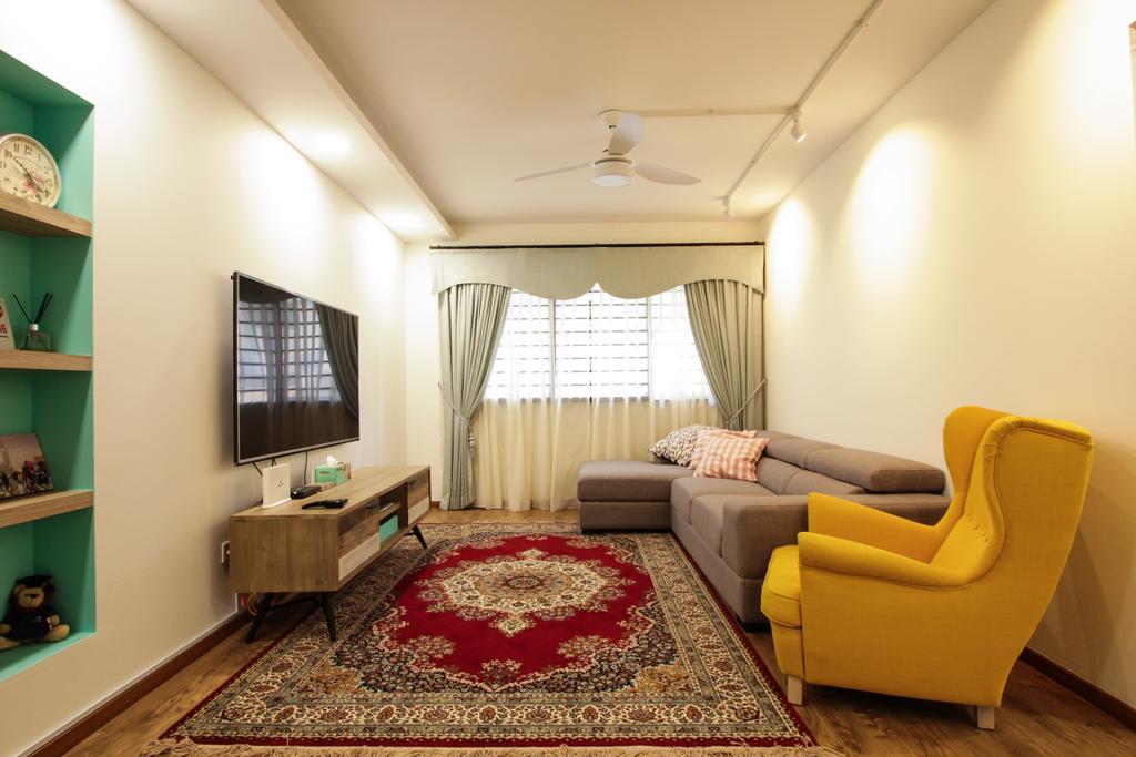 Contemporary, HDB, Living Room, Bishan Street 22, Interior Designer, Couple Abode