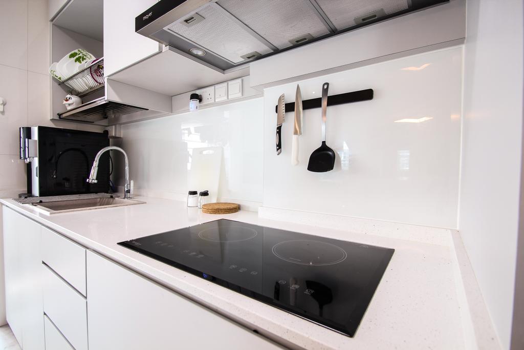 Modern, HDB, Kitchen, Sumang Lane, Interior Designer, Couple Abode