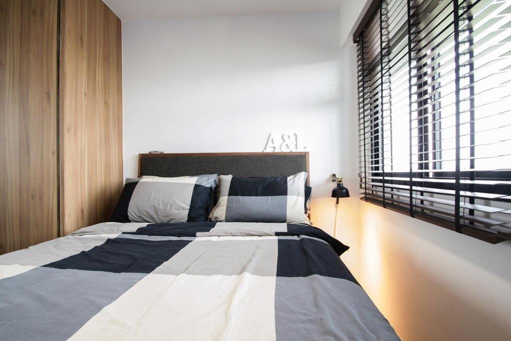 Contemporary, HDB, Bedroom, Compassvale Bow, Interior Designer, Couple Abode, Industrial